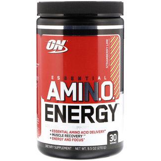 Optimum Nutrition AMIN.O. Energy + Electrolytes Strawberry Lime 30 Servings