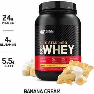 Optimum Nutrition Gold Standard Banana Cream 100% Whey 2Lb
