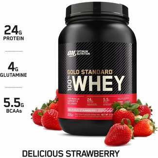 Optimum Nutrition Gold Standard Delicious Strawberry 100% Whey 2Lb