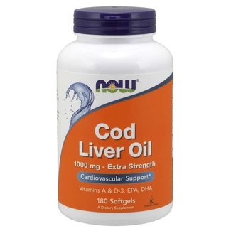 Now Foods Cod Liver Oil 1,000Mg 180 Softgels