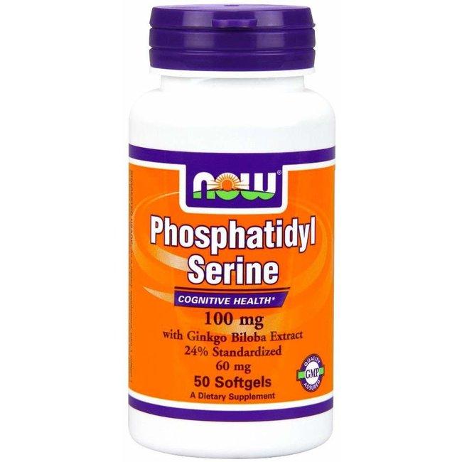 Now Foods Phosphatidyl Serine 100Mg 50 Softgels
