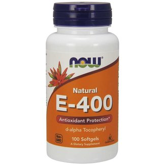 Now Foods E-400 D-Alpha Tocopheryl 100 Softgels