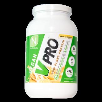 Nutrakey V Pro Premium Vegan Vanilla Cookies Protein 2 Lb