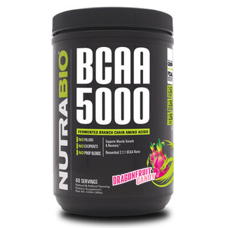 Nutrabio BCAA 5000 Dragonfruit Candy Powder 60 Servings