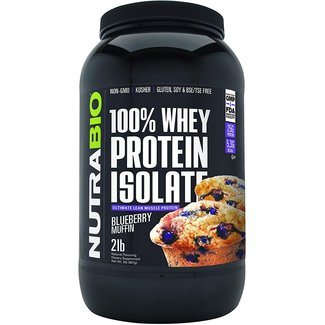 Nutrabio 100% Whey Protein Isolate Blueberry Muffin 2 Lb