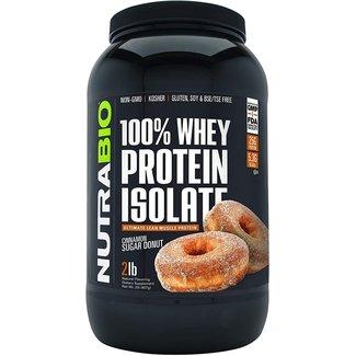 Nutrabio 100% Whey Protein Isolate Cinnamon Sugar Donut 2 Lb