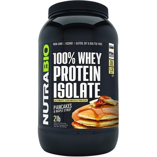 Nutrabio 100% Whey Protein Isolate Pancakes & Maple Syrup 2 Lb