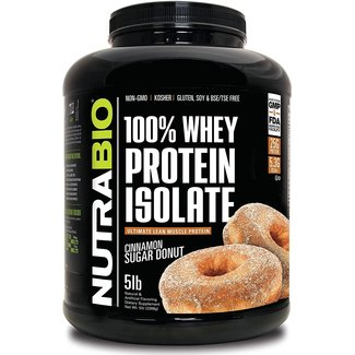 Nutrabio 100% Whey Protein Isolate Cinnamon Sugar Donut 5 Lb
