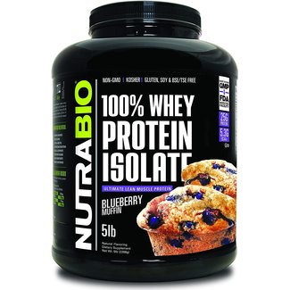 Nutrabio 100% Whey Protein Isolate Blueberry Muffin 5 Lb