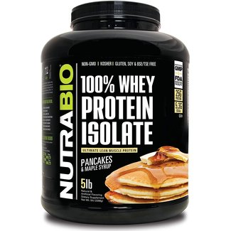 Nutrabio 100% Whey Protein Isolate Pancakes & Maple Syrup 5 Lb