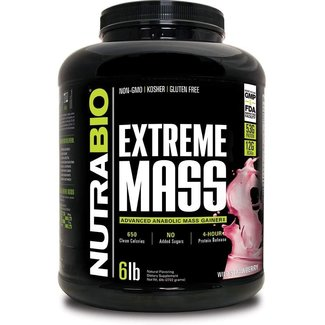 Nutrabio Extreme Mass Strawberry Pastry 6 Lb