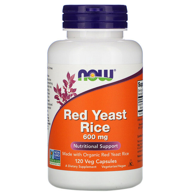 Now Foods Red Yeast Rice 600MG 120 VC