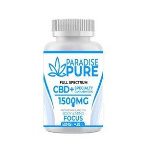 Paradise Pure Paradise Pure Cbd+Energy 30 Gel Capsules Focus