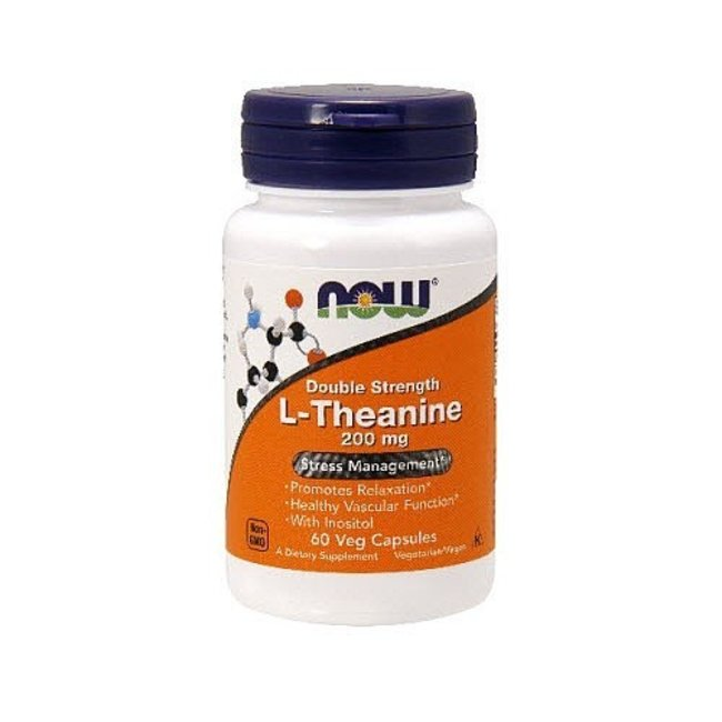 Now Foods L-Theanine 200Mg  120 Veg Caps