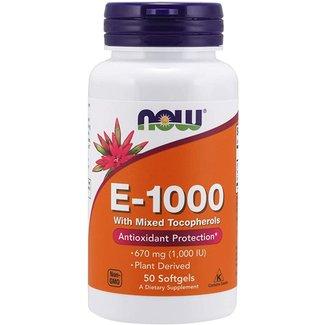 Now Foods Vitamin E-1000 IU Mixed 50 Sg