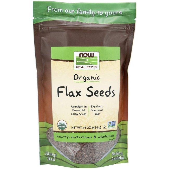 Now Foods Flax Seed Organic Meal 1 Lb