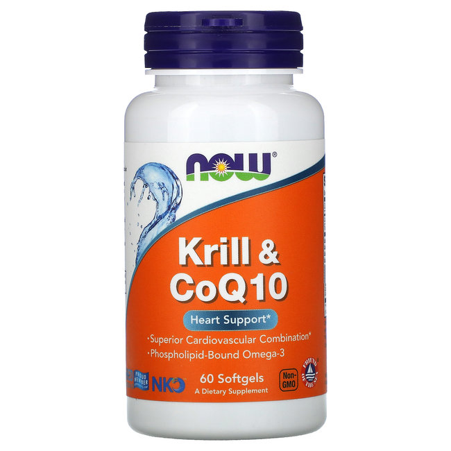 Now Foods Krill & CoQ10 Sg