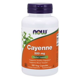 Now Foods Cayenne 500Mg 100 Veg Cap