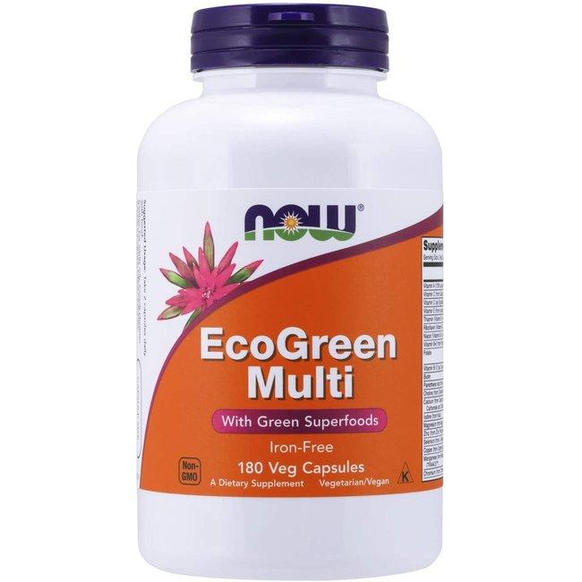 Now Foods Ecogreen 180 Veg Caps Iron-Free