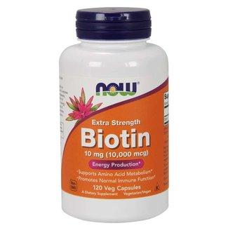 Now Foods Biotin 10,000Mcg Extra Strength 120 Veg Cap