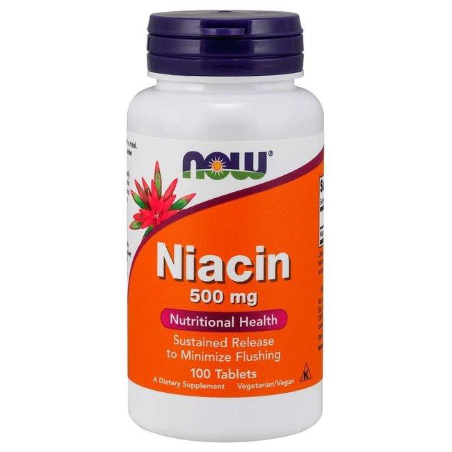 Now Foods Niacin 500 mg w/ 100 Tablets