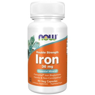 Now Foods Iron 36 mg Double Strength w/ 90 VC