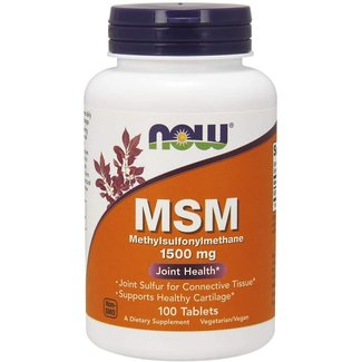 Now Foods MSM 1500 mg w/ 100 Tablets
