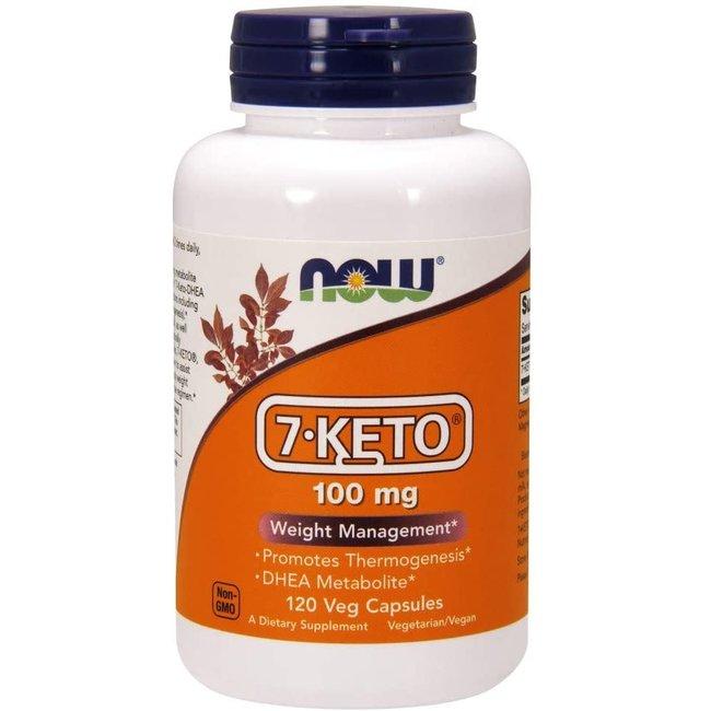Now Foods 7-KETO® 100 mg w/ 120 Veg Capsules