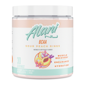 Alani Nu BCAA Muscle Recovery Powder Sour Peach Rings Flavor