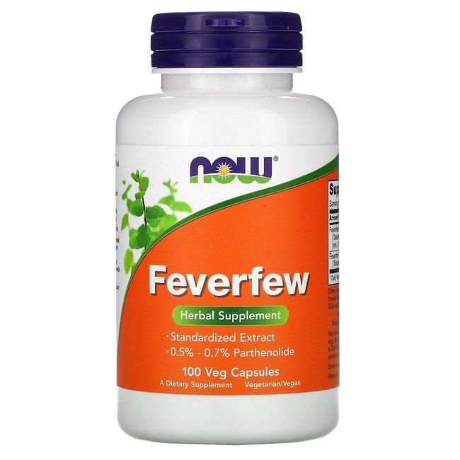 Now Foods Feverfew w/ 100 Veg Capsules