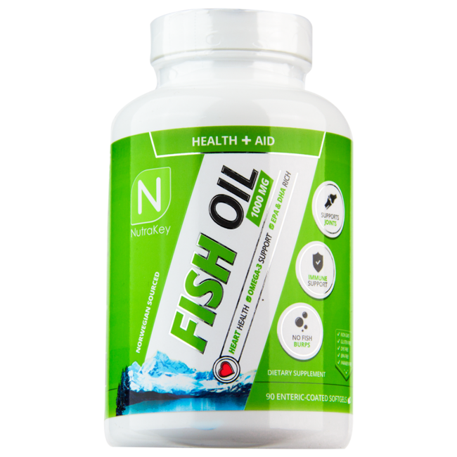 Nutrakey Fish Oil with 90 Softgels