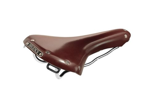 Brooks Brooks Swallow B 15 - Antique Brown - Chrome Steel