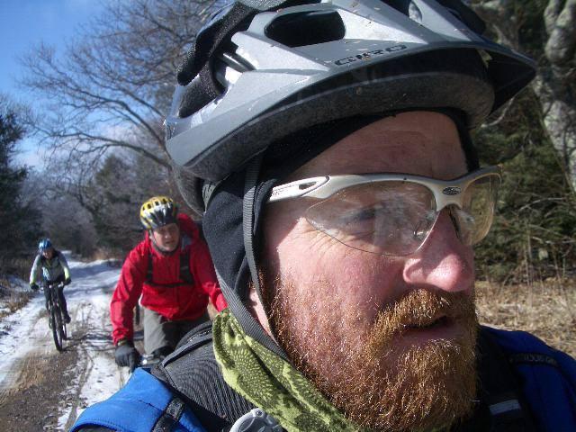 Glenn Amey biking through winter!