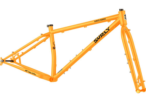 "Surly Surly Karate Monkey Frameset - 27.5"", Steel, Toxic Tangerine, Small"