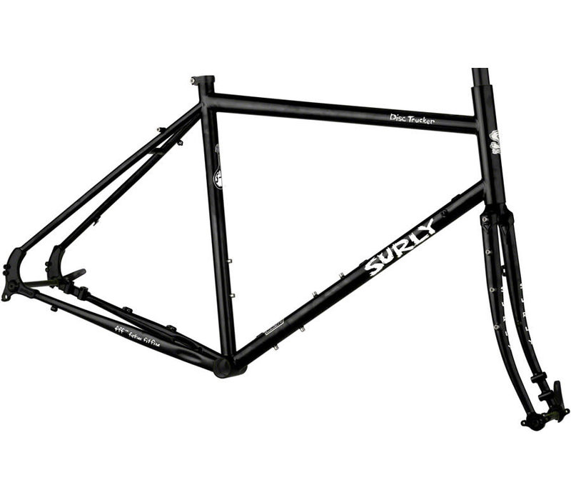 Surly Disc Trucker Frameset - 700c, Steel, Hi-Viz Black, 58cm