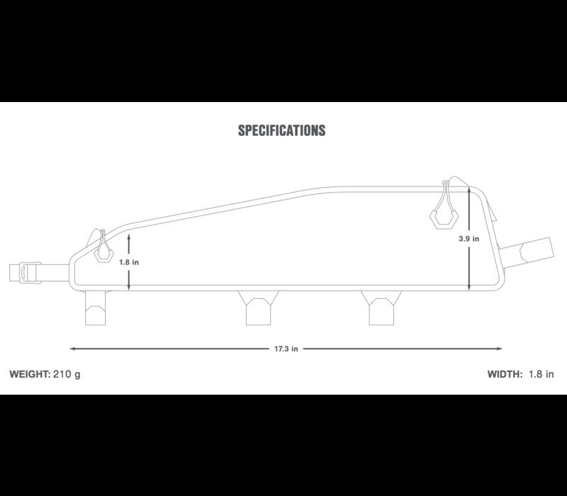 Apidura Racing Long Top Tube Pack (2.0) Large - Black