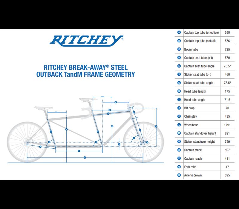 Ritchey Break-Away TandM Tandem Frameset, Team, One Size