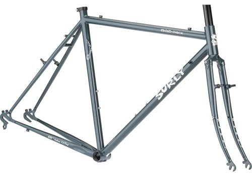 Surly Surly Cross-Check Frameset - 700c, Steel, BlueGreenGray, 58cm