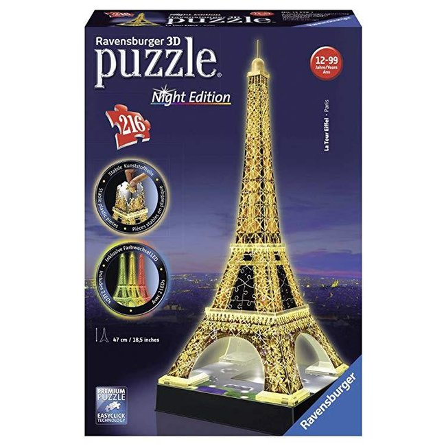 Ravensburger Eiffel Tower (216 pc 3D Puzzle) Light