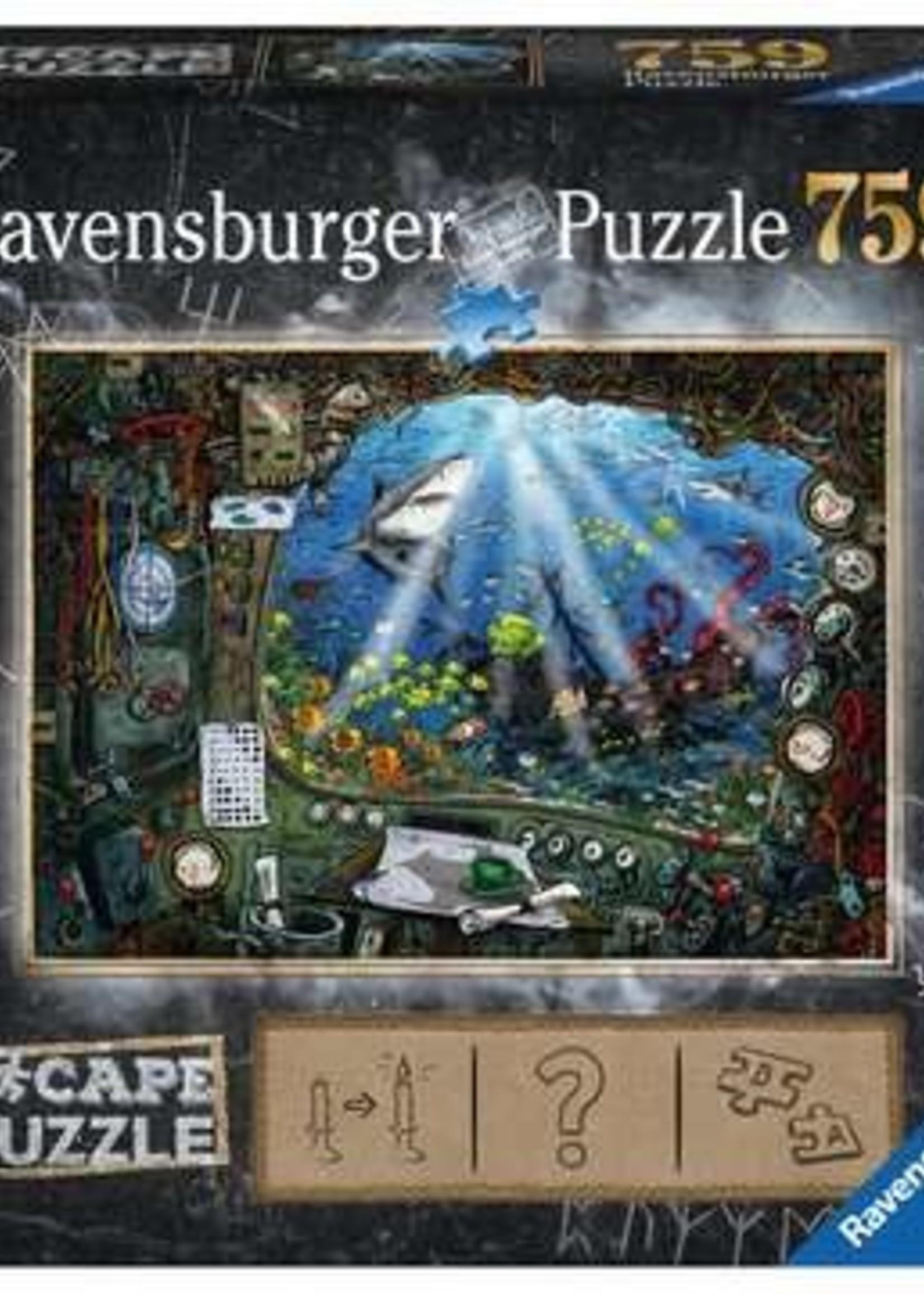 Ravensburger ESCAPE 4 Submarine (759 pc Escape Puzzle)