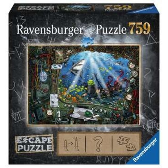 Ravensburger ESCAPE 4 Submarine (759 pc Escape Puzzle)