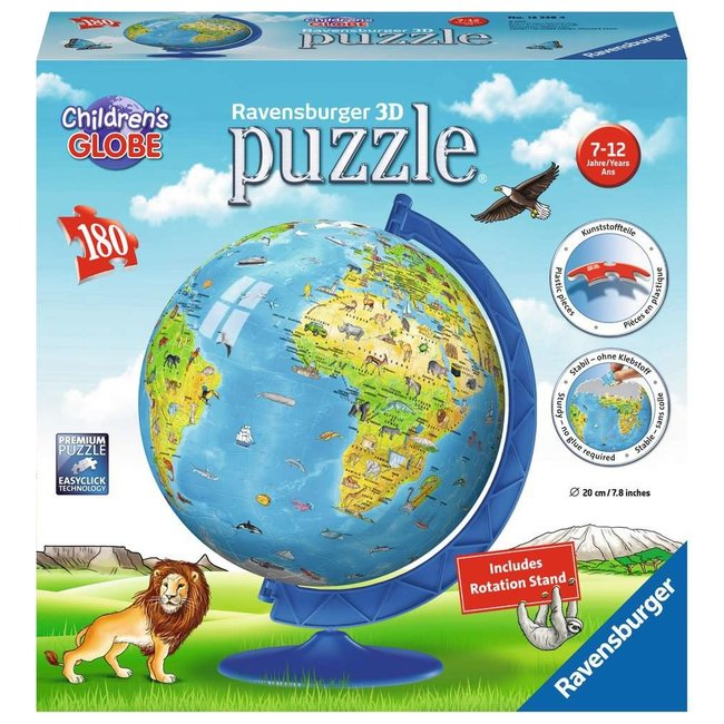 Ravensburger Children's World Globe (180 pc 3D Puzzle)