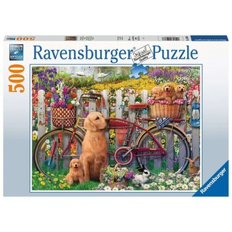 Ravensburger Cute Dogs in the Garden (500 pc)