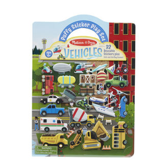 Melissa & Doug Puffy Sticker Play Set- Vehicles