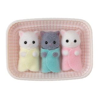 Calico Critters Persian Cat Triplets