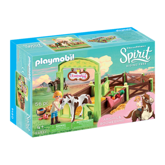 Playmobil Abigail & Boomerang with Horse Stall