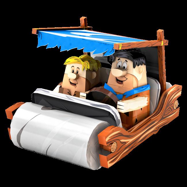 METAL EARTH Flintstones Car