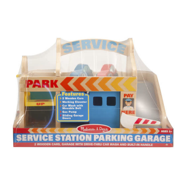 Melissa & Doug Service Station Parking Garage