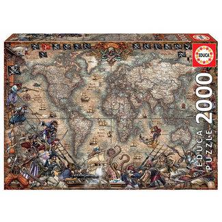 Educa Pirates Map 2000pc