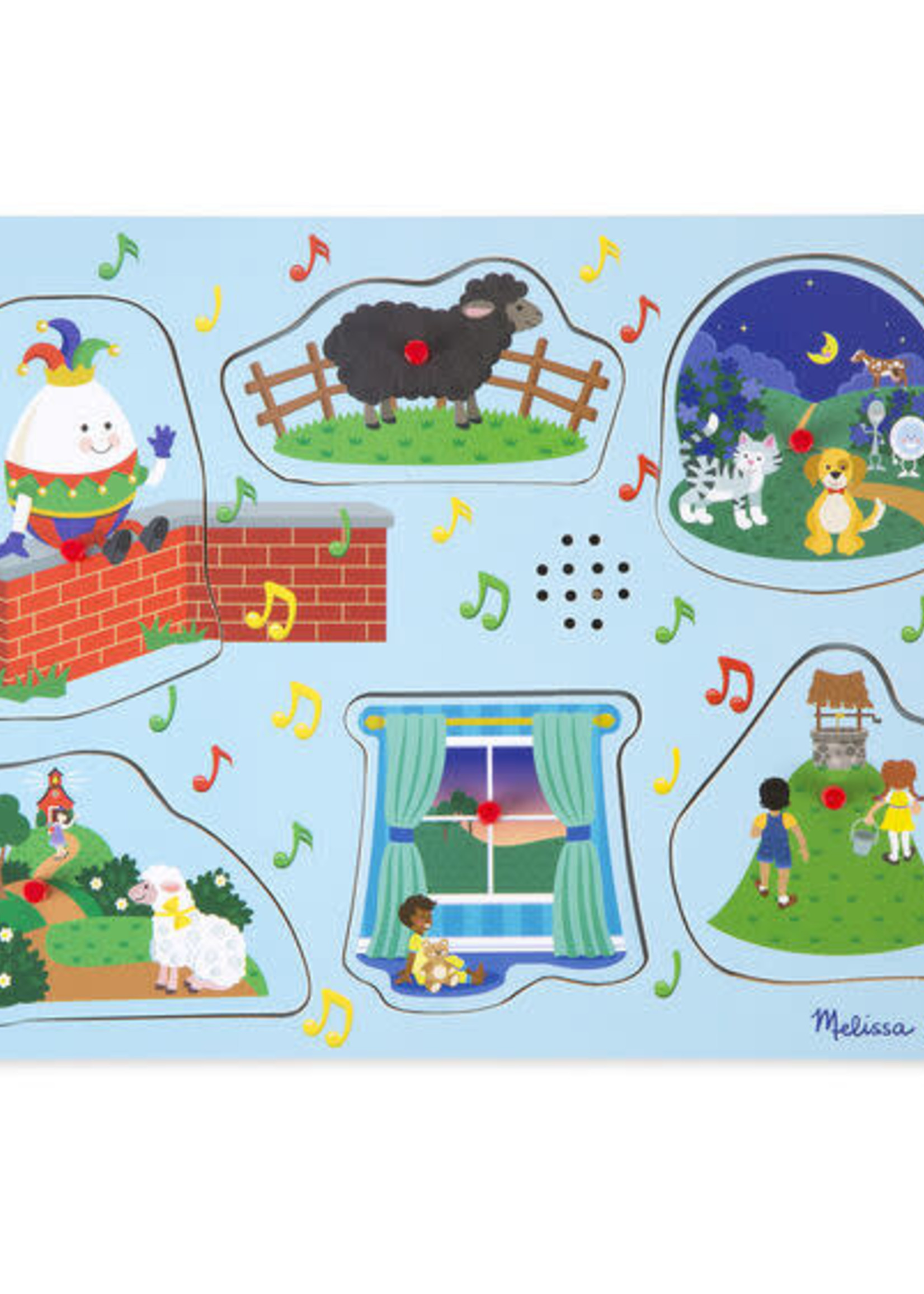 Melissa & Doug Sing-Along Nursery Rhymes 2 Song Puzzle